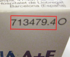 Código nacional de un envase de un medicamento