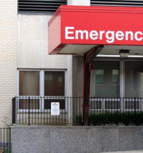 Imagen de la entrada de emergencia de un hospital