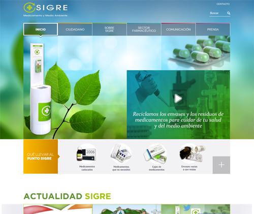 Nueva web de SIGRE, www.sigre.es