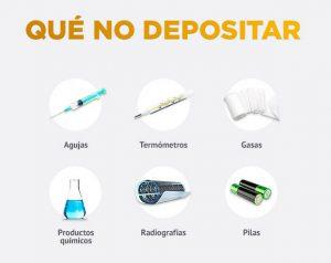 Residuos que no se deben depositar en el Punto SIGRE
