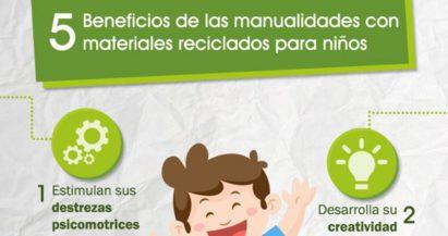 Manualidades con materiales reciclados para hacer con niños