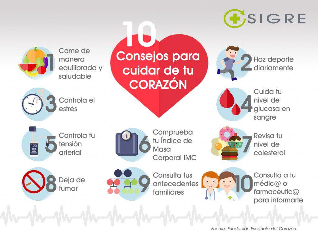 1a2d4d3be66ec 10 consejos para cuidar de tu corazón – Blog Corporativo de SIGRE