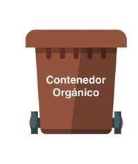 contenedor marrón